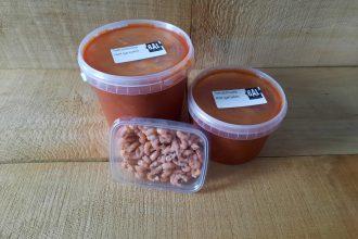 Tomatensoep met Hollandse garnalen